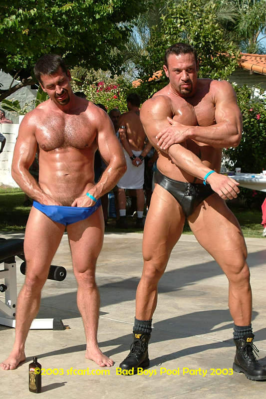 All men pool party hot naked gay sex having 1